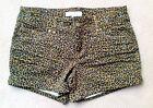 Forever21 Leopard Animal Prints Spots Denim Hot Pants 5pocket Club wear Shorts