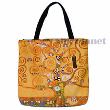 GUSTAV KLIMT THE Tree of Life GOLD NOUVEAU TOTE BAG SHOPPING ART PRINT CANVAS