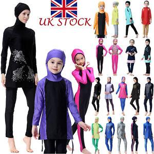 Muslim Women Girls Islamic Modest Swimwear Full Burkini Swimming Costume