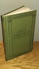 Vintage 1901 Book: Alexander Pope's Rape of the Lock & Other Poems – 1st Edition