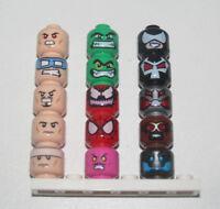 Lego ® Minifig Tête Visage Super Heroes Marvel Choose Head 3626 NEW