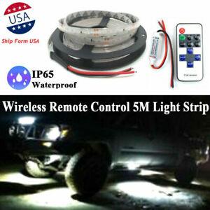LED Neon Accent Underbody Rock Light Under Car 6000K Glow Kit 12V fit GMC Sierra
