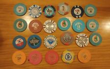 Lot of 23 Vintage $1 and .50 Cent Casino Chips
