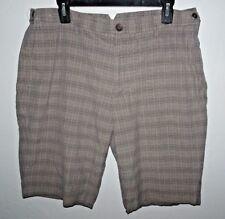 DKNY Mens Casual Shorts Flat Front 36 BROWN