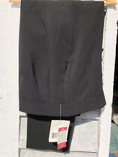 LIZ CLAIBORNE Women's Black Pin-Striped Lined Dress Slacks Side Zip 10 NWT Pants