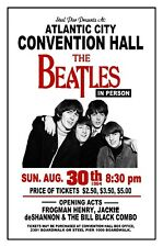 The Beatles 1964 Atlantic City Convention Hall  Art Rendition Poster THouse 2017
