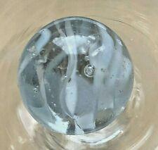 Alte Glas Murmel Märbel Lauscha mit Abriß Luftblaseneinschlüsse 17mm