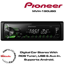 Pioneer mvh-190ubg - Mechless Digital Stereo USB Aux Android pronto RDS SINTONIZZATORE NUOVO