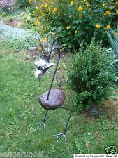 Steinvogel Gartenskulptur Metallvogel Skulptur Gartendeko Gartenfigur 70 cm