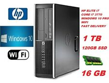 FASY HP 8300 Elite DESKTOP PC COMPUTER Intel Core i7 3rd Gen 120GB SSD 16GB 1TB