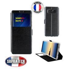 Etui Rabattable Noir Avec Ouverture Ecran pour Samsung Galaxy Note 8