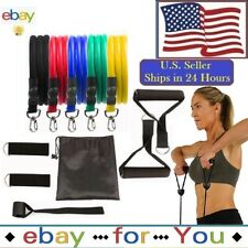 Best Exercise 11 PCS Resistance Bands Set Home Gym Fitness Tube Training Workout