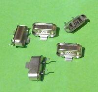5x Quarz 3,2768 3.2768 MHz E Grundton mit SMD Clip Gull wing Pin Jacket Halter