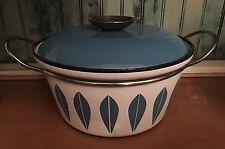 "Vintage CathrineHolm Of Norway Lotus Pot 8.5"" Blue & White"