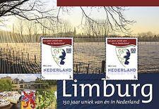 Persoonlijk pz velletje 150 jaar Provincie Limburg velletje van 2 PF