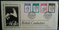 GB FDC 1980 British Conductors Manchester Halle Handstamp  First Day Cover