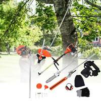 Samger 52cc 5 in 1 Petrol Hedge Trimmer Chainsaw Brush Cutter Pole Saw Outdoor