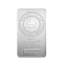 10 oz Royal Canadian Mint RCM .9999 Fine Silver Bar
