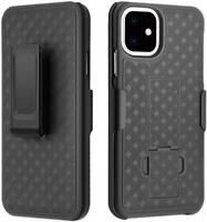 Black Belt Clip Holster Case Slim Combo with Kickstand For iPhone 11 11 Pro Max