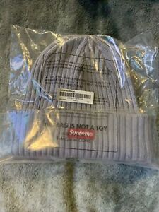 SUPREME OVERDYED BEANIE GREY OS BEANIE/ SS21 WEEK 4 AUTHENTIC/ BRAND NEW