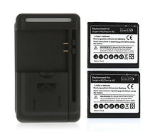 2 1600mAh Battery & Charger HTC Desire HD G10 Inspire 4G Ace A9191 T8788 BD26100