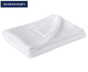 Sheridan Pembrooke Cot Blanket 100% Cotton - Snow Colour