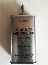 American Oil & Supply Co. Full Lead Top Gun Oil Tin Never Opened Alox L-1165-M