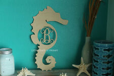 """18"""" Wooden Seahorse Letter Unfinished wood letter Room Decor Custom 18in"""