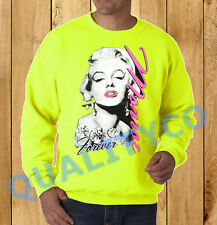 Unisex Marilyn Monroe Forever Neon Sweatshirt Sweater dope rave tattoo diamond