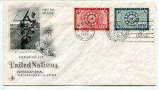 1956 Honoring United Nations International Teleccomunication Union New York