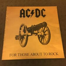 Acdc - For Those About To Rock (Aus pressing - includes Flyer)