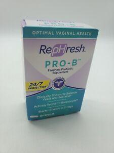 RepHresh Pro-B Probiotic Feminine Supplement 30 Capsules July 2022