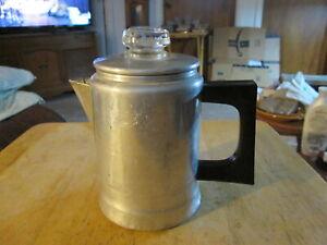 VINTAGE COMET 1-2 CUP ALUMINUM COFFEE POT PERCOLATOR - CAMPING