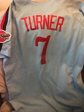 Nationals star trea turner signed syracuse-expos throwback jersey