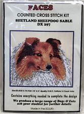 Faces Shetland Seepdog Sable Counted Cross Stitch Kit Dog DX 297 10x8