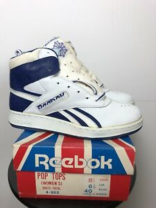 Vintage Deadstock Reebok Pop Tops Sneaker 80s Mens 8 Womens 8.5 EUR 40