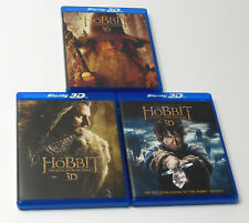 THE HOBBIT TRILOGY 3D 2D Blu ray DVD Set TESTED VG Cond. FAST Lord Of The Rings