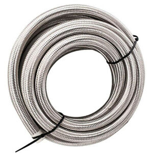 AN10 10AN Stainless Steel Braided Fuel Oil Gas Air Line Hose Pipe 3 Meters