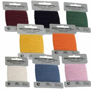 Scanfil Mending Darning Wool Thread - Huge Colour Range - 55% Wool 15 Metres