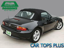 96-02 BMW Z3 Convertible Top OEM BlackTwillfast Cloth, W/Cables, Rain Guards
