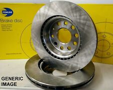 2X FRONT BRAKE DISCS VENTED FOR MERCEDES-BENZ C-CLASS COUPE CLK 1.8 2.8 3.2 CDI