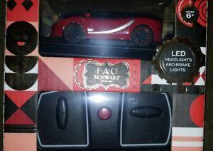 F•A•O Schwarz Remote Control Car Sports Italia Car LED NEW