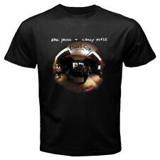 Neil Young Crazy Horse Ragged Glory Men's Black T-Shirt Size S-3XL 100% cotton
