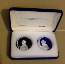 Franklin Mint Bicentennial Collection. Cameos in Crystal Washington & Lafayette