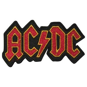 ACDC Rock Band Music Logo Patch Iron On Patch Sew On Embroidered Patch
