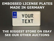 NATO US USA License Plate Number Plate Embossed Alu Custom Border Your Text