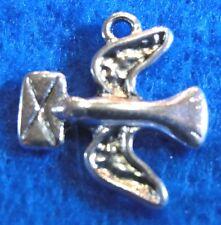 10Pcs. Tibetan Silver BIRD w/ NOTE Pigeon Pendants Charms Earring Drops BD11