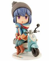 Yuru Camp Mini Figure Shima Rin Height approx 70mm PVC FROM JAPAN NEW.
