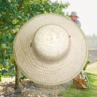 Men Women Durable Bamboo Weave Summer Outdoor Sun Protection Wide Brim Straw Hat