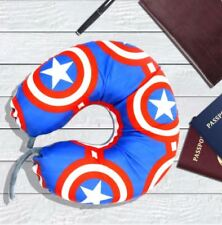 Celebrity Memory Foam Travel Neck Pillow U Shaped Cushion Captain America Design